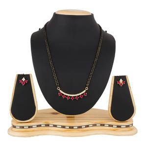 Adorable Golden Colored Stone Work Mix Metal Mangalsutra