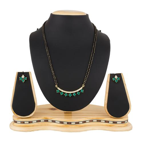 Attractive Golden Colored Stone Work Mix Metal Mangalsutra