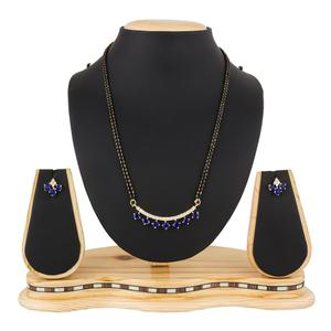 Beautiful Golden Colored Stone Work Mix Metal Mangalsutra