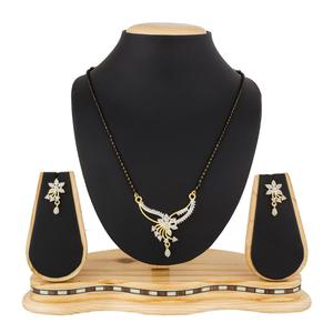 Charming Golden Colored Stone Work Mix Metal Mangalsutra