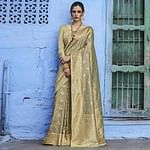 Eye-catching Beige Colored Festive Wear Woven Silk Saree