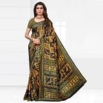 Ravishing Multicolored Casual Printed Silk Saree