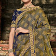 Staring Green Colored Festive Wear Woven Banarasi Silk Saree