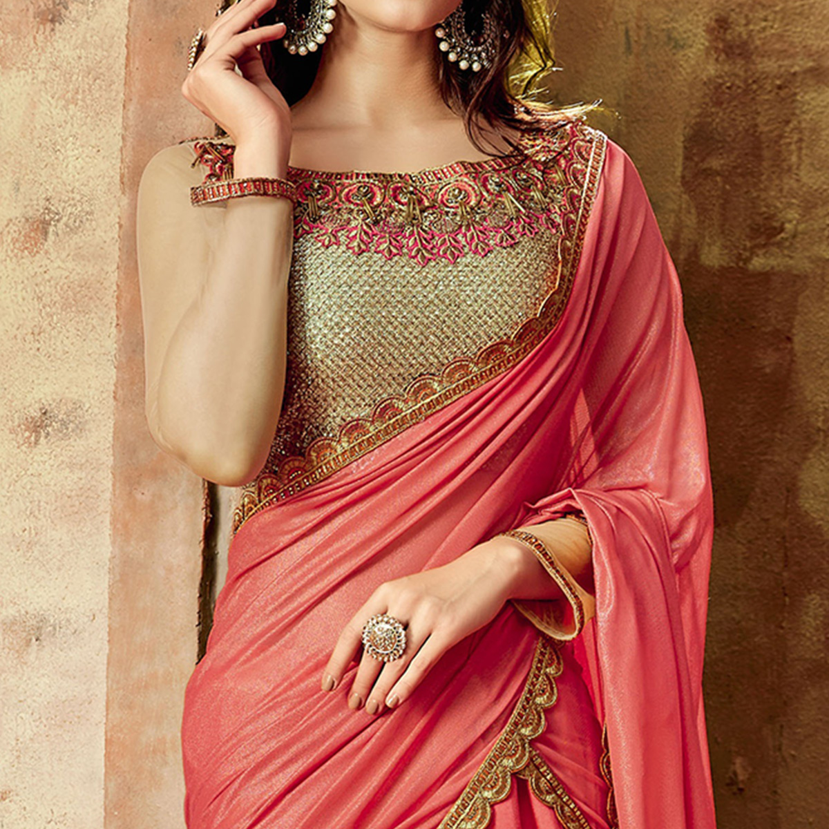 Trendy Pink Colored Partywear Embroidered Silk Lehenga Choli