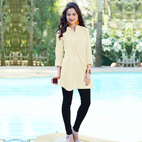 Off White Cotton Designer Kurti
