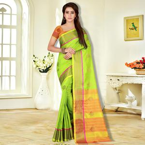 Adorable Green Colored Festive Wear Woven Banarasi Silk Saree