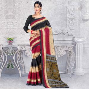 Pleasant Multi Colored Casual Wear Printed Bhagalpuri Silk Saree