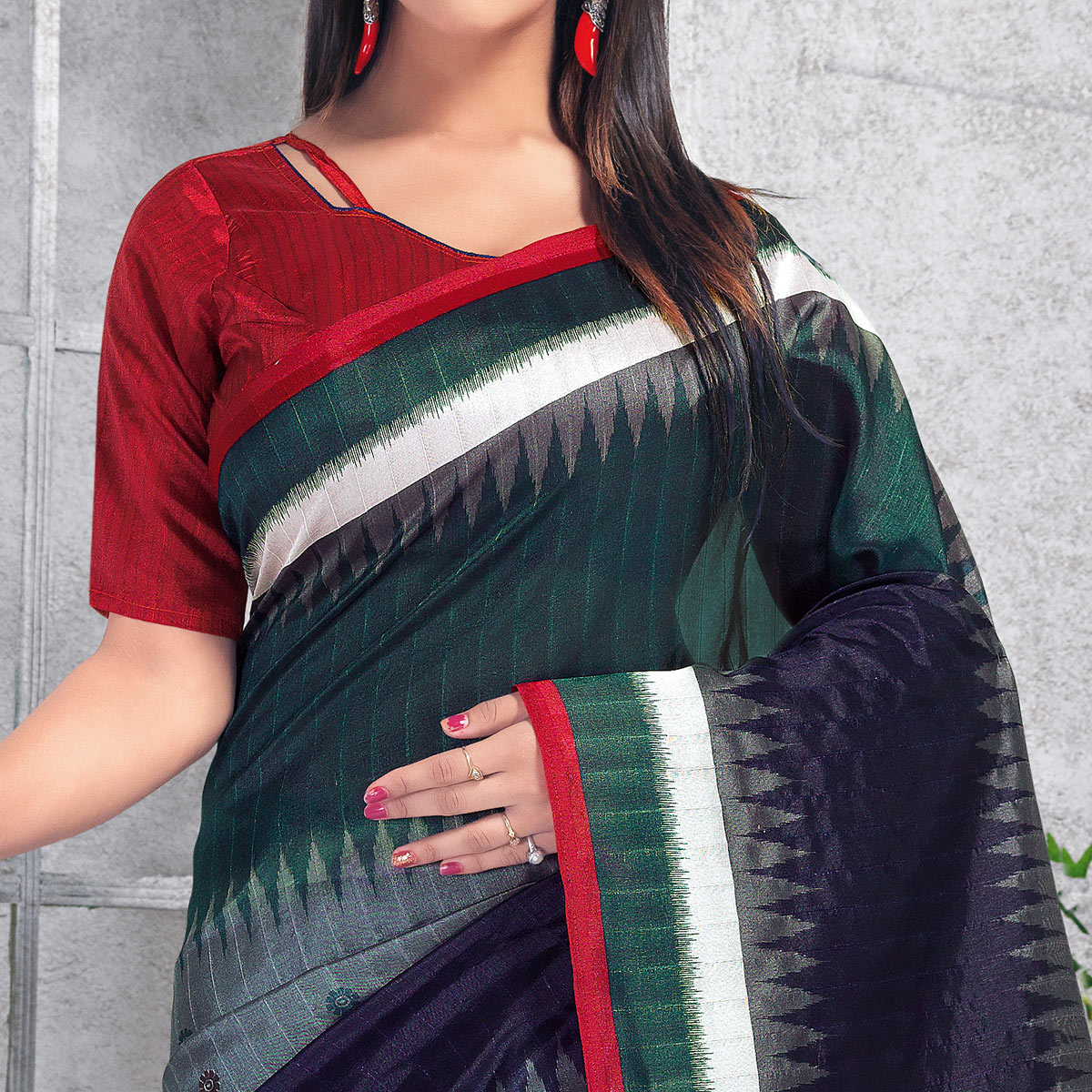 Opulent Multi Colored Casual Wear Printed Bhagalpuri Silk Saree
