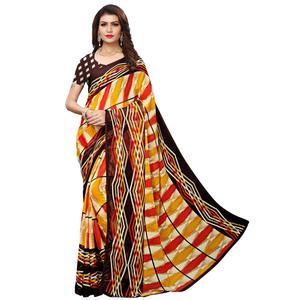 Starring Multi Colored Casual Wear Printed Georgette Saree