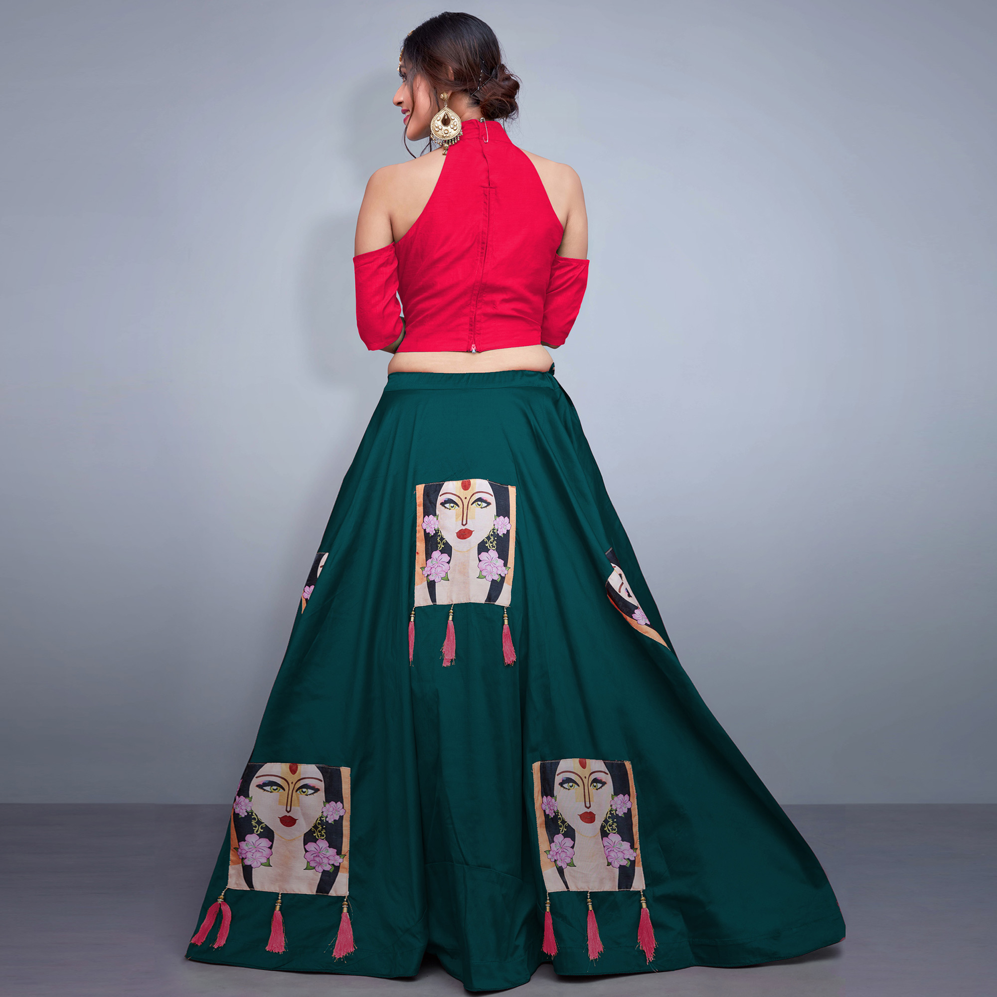 Magnetic Teal Green Colored Party Wear Fancy Tapeta Silk Lehenga Choli
