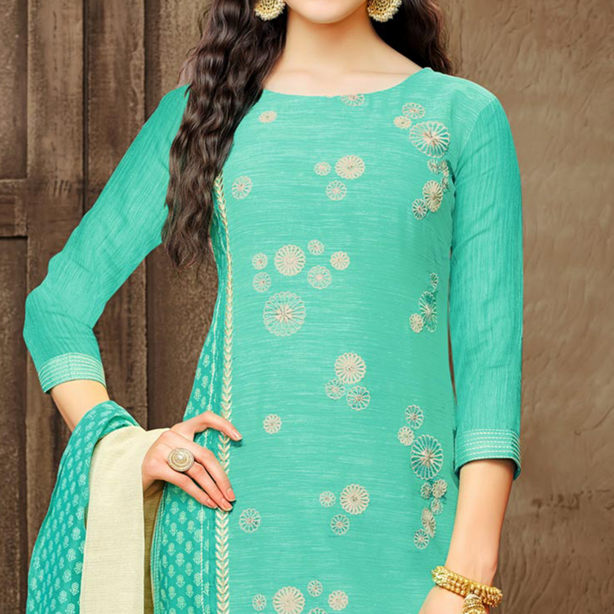 Classy Green Embroidered Designer Salwar Suit