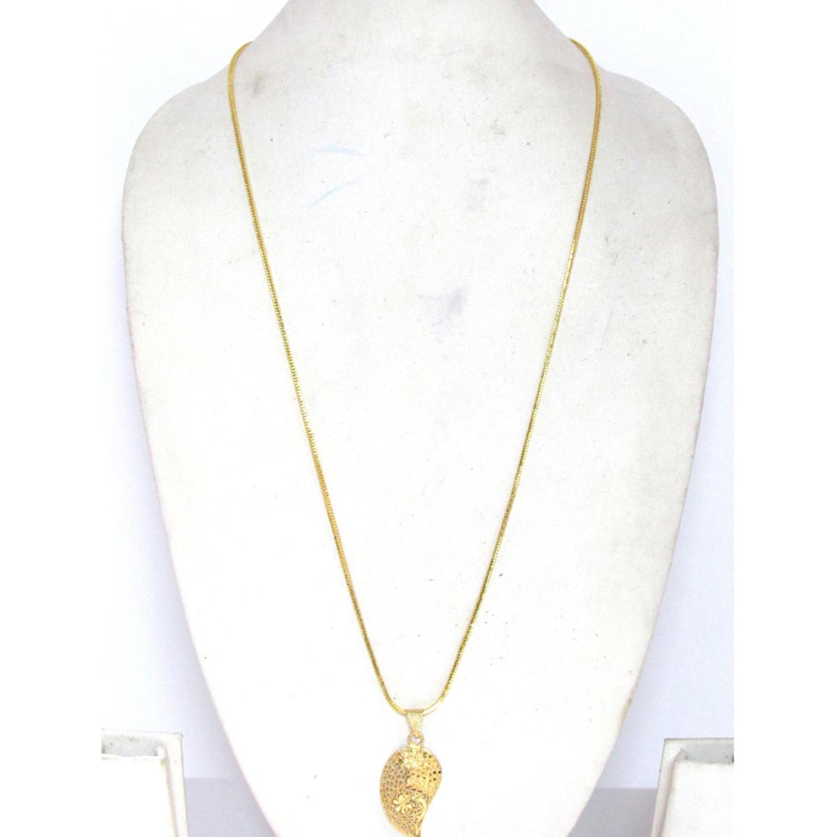 Golden Mango Pendant Chain Necklace