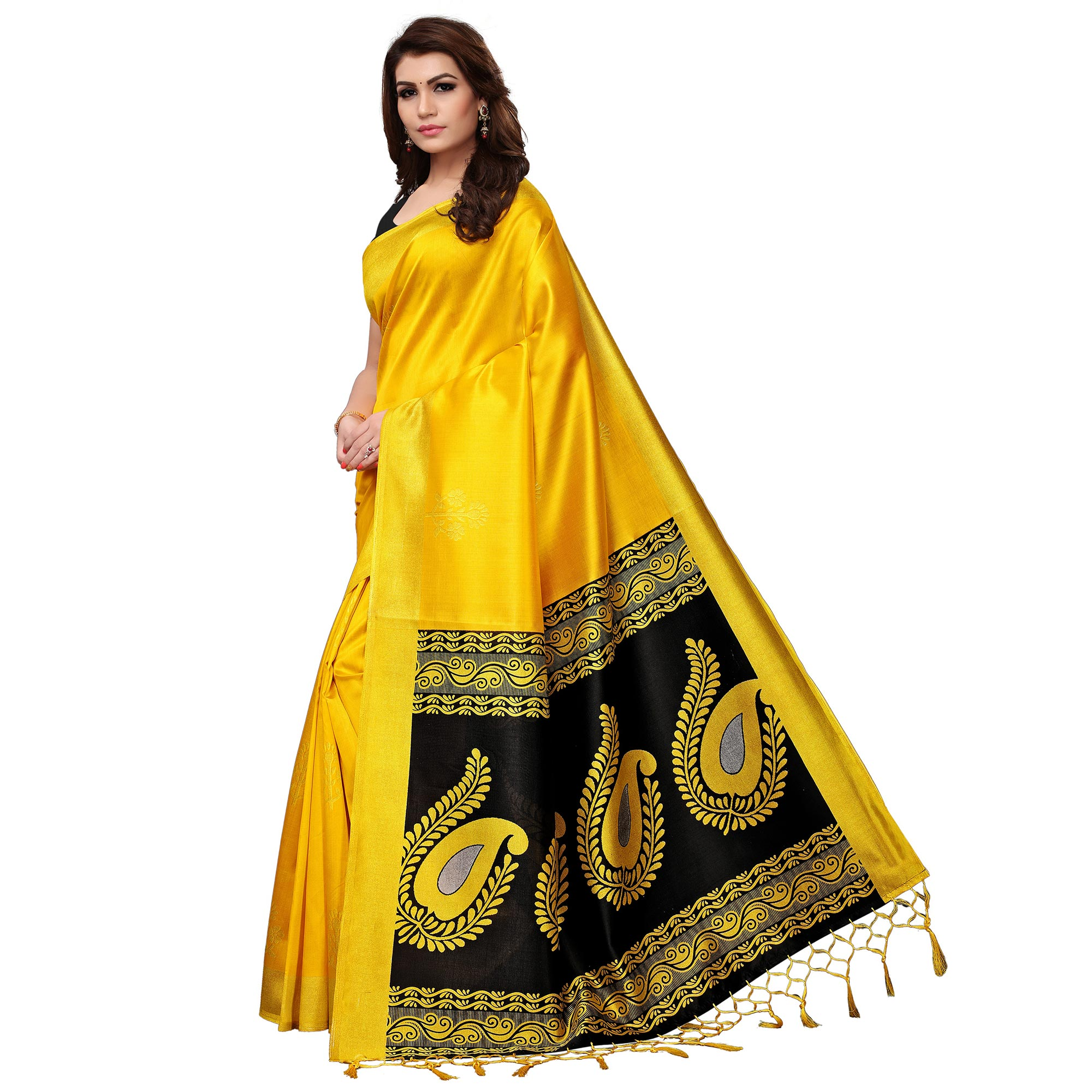 3130c94032 Buy Pleasant Yellow Colored Festive Wear Printed Mysore Silk Saree Online  India, Best Prices, Reviews - Peachmode