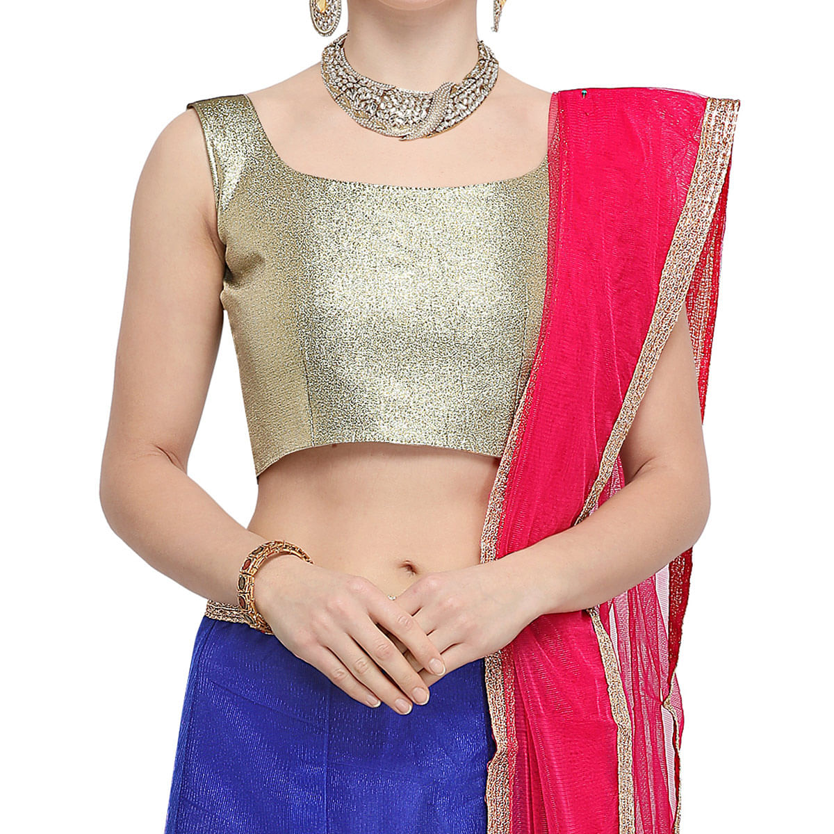 Adorable Blue Colored Party Wear Embroidered Net Lehenga Choli