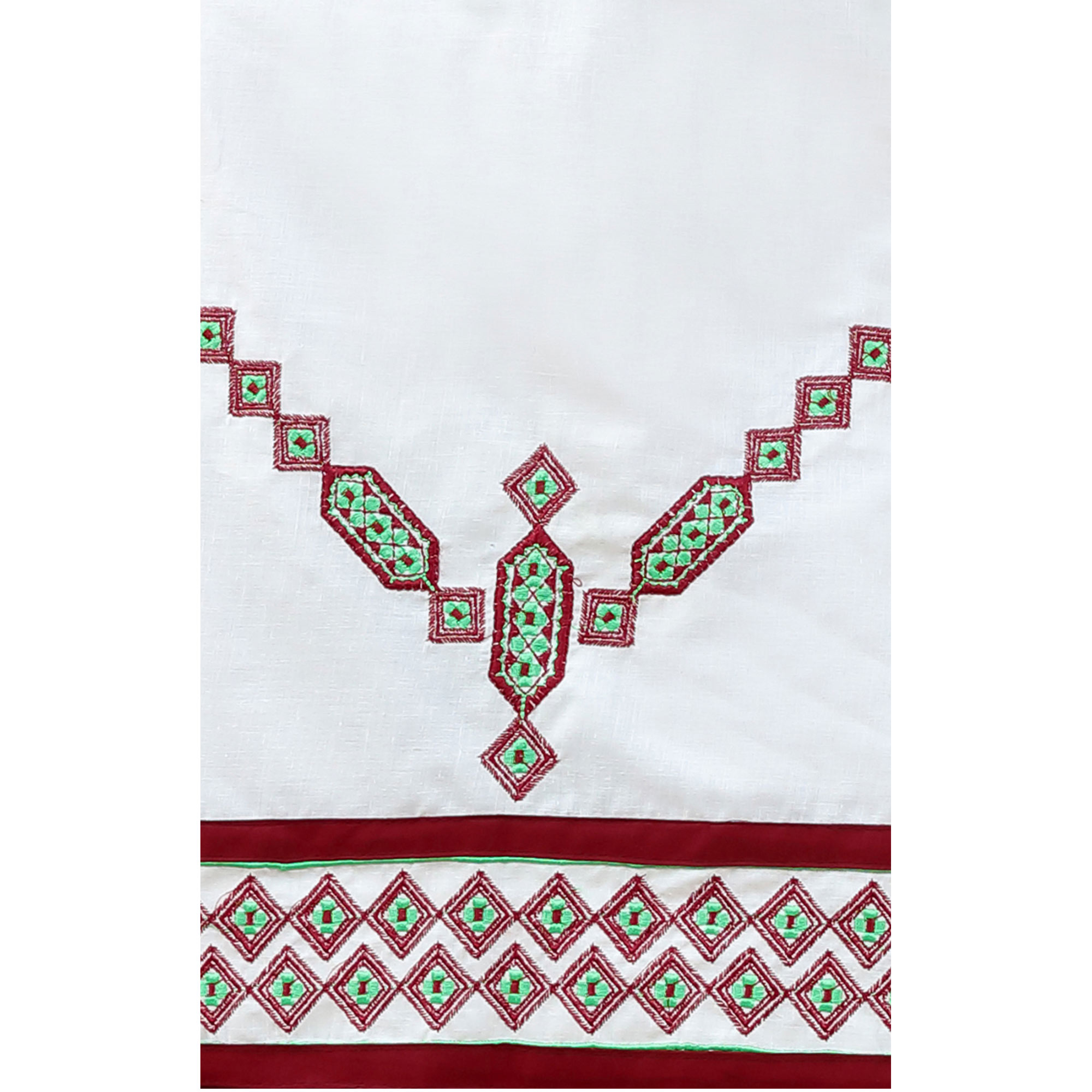 Ideal White Colored Embroidered Casual Wear Cotton Dress Material