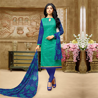 Adorable Green Chanderi Salwar Suit