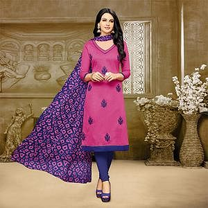 Lovely Pink Chanderi Salwar Suit