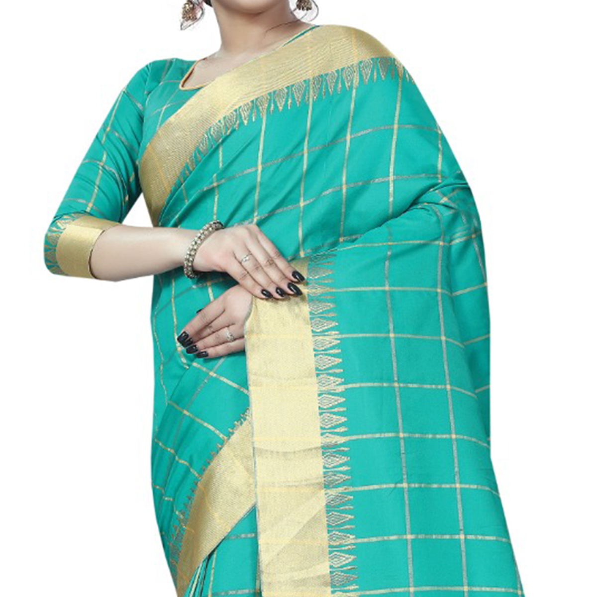 Fantastic Aqua Blue Colored Festive Wear Art Silk Saree