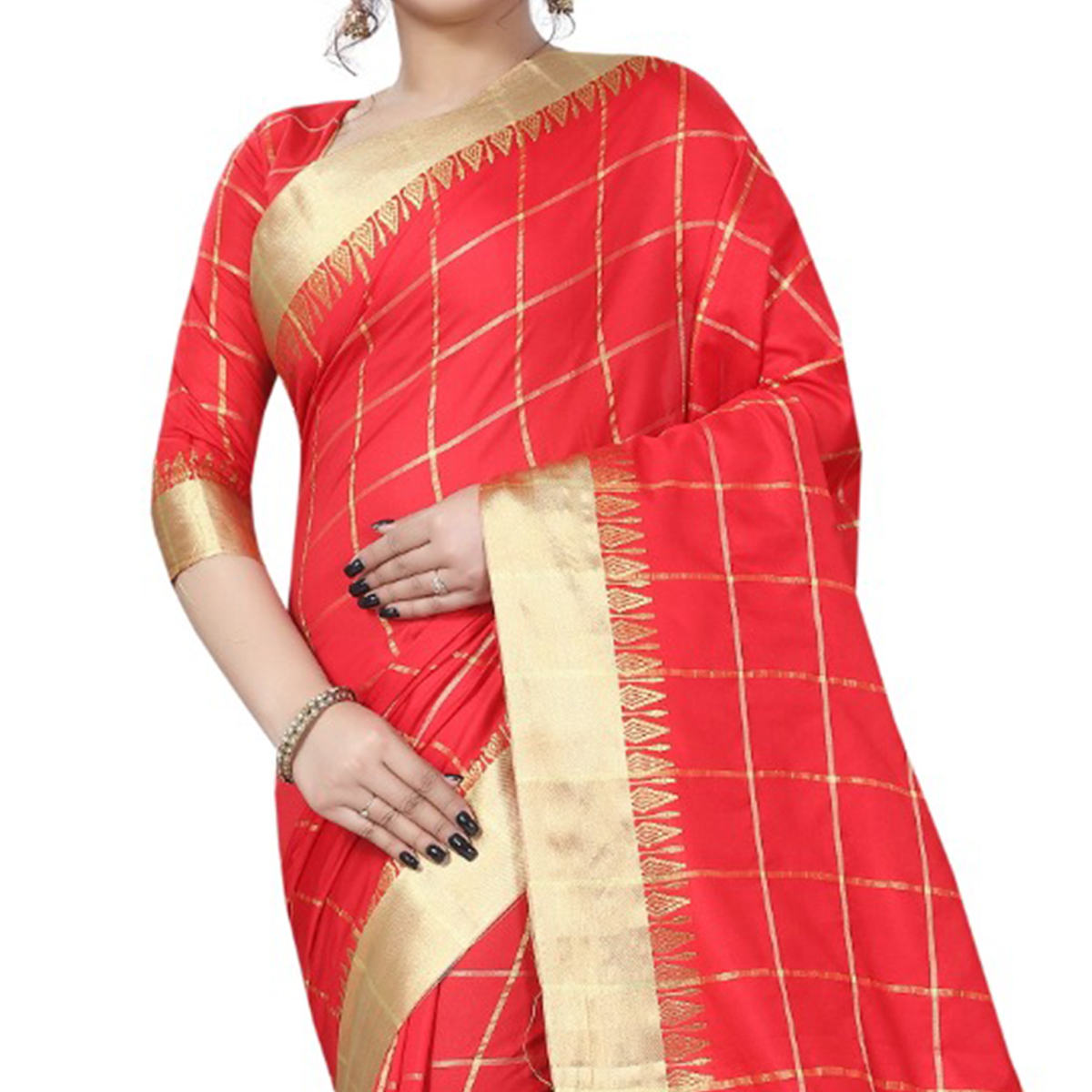Graceful Red Colored Festive Wear Art Silk Saree