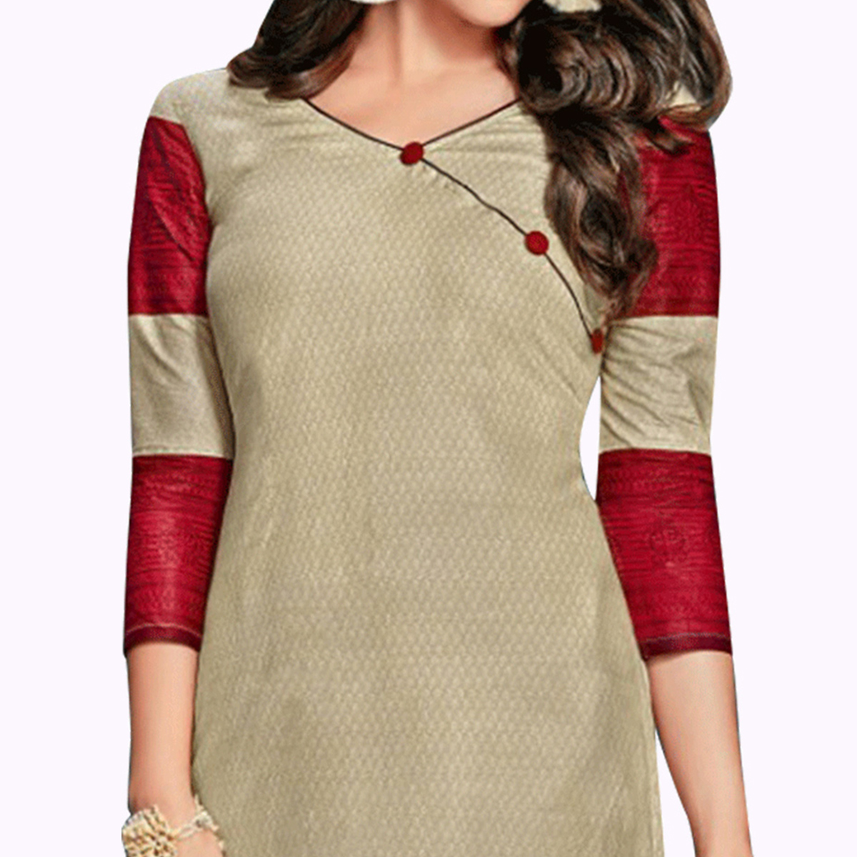 Opulent Grey Colored Casual Wear Printed Jetpur Cotton Kurti