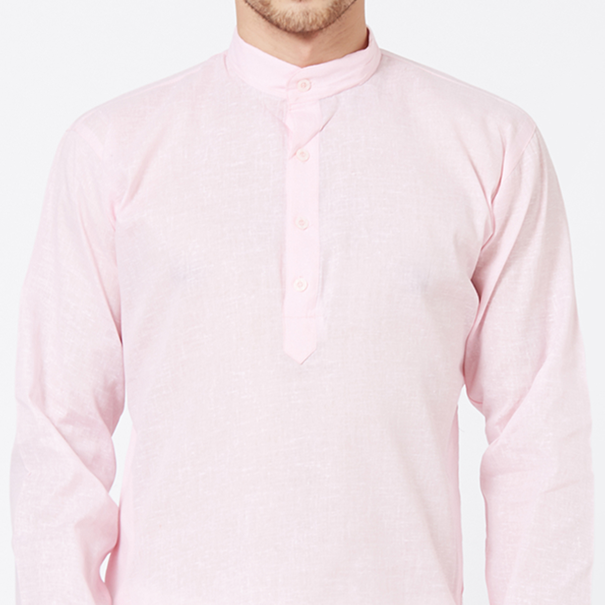 Glowing Pink Colored Festive Wear Cotton Kurta