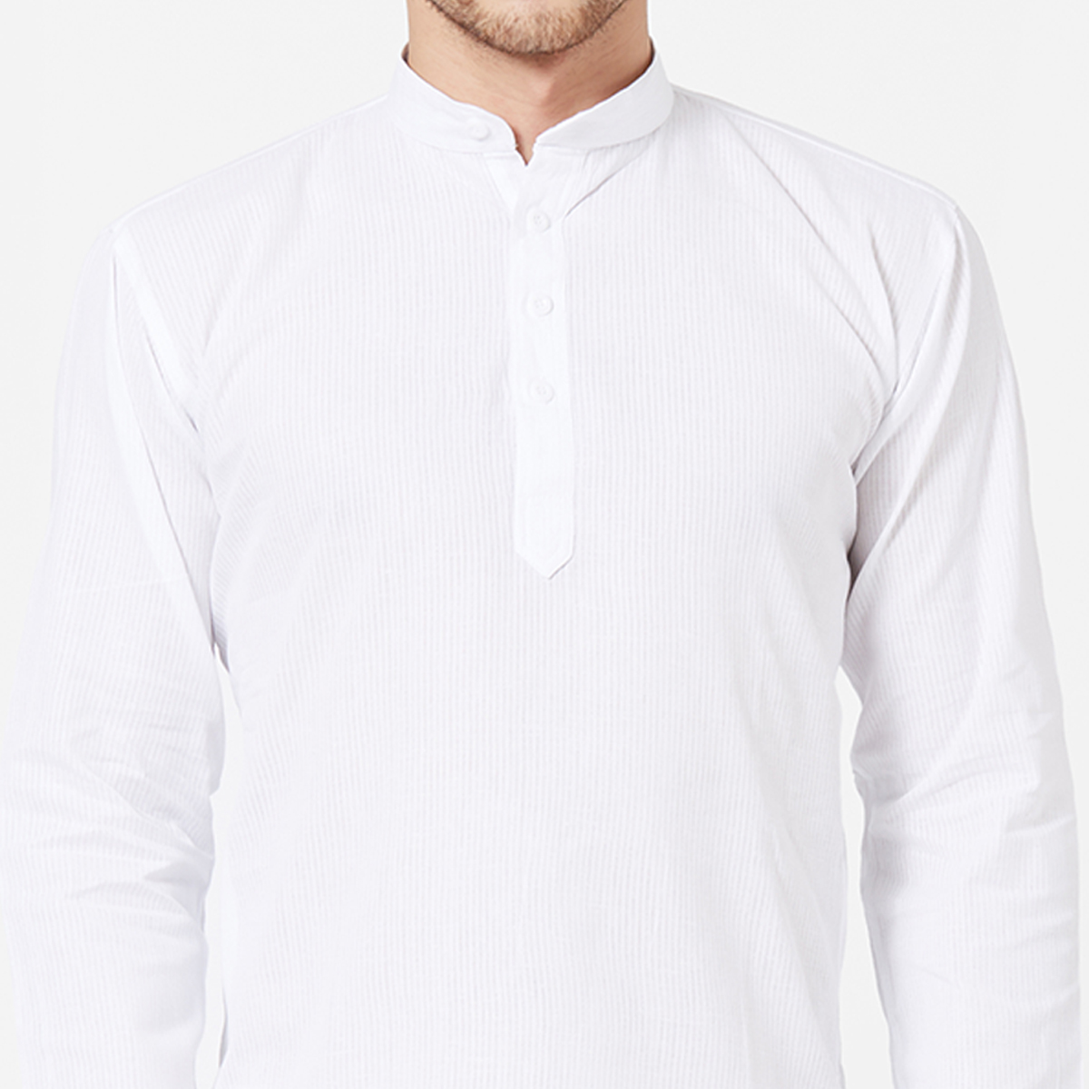 Classy White Colored Festive Wear Cotton Kurta