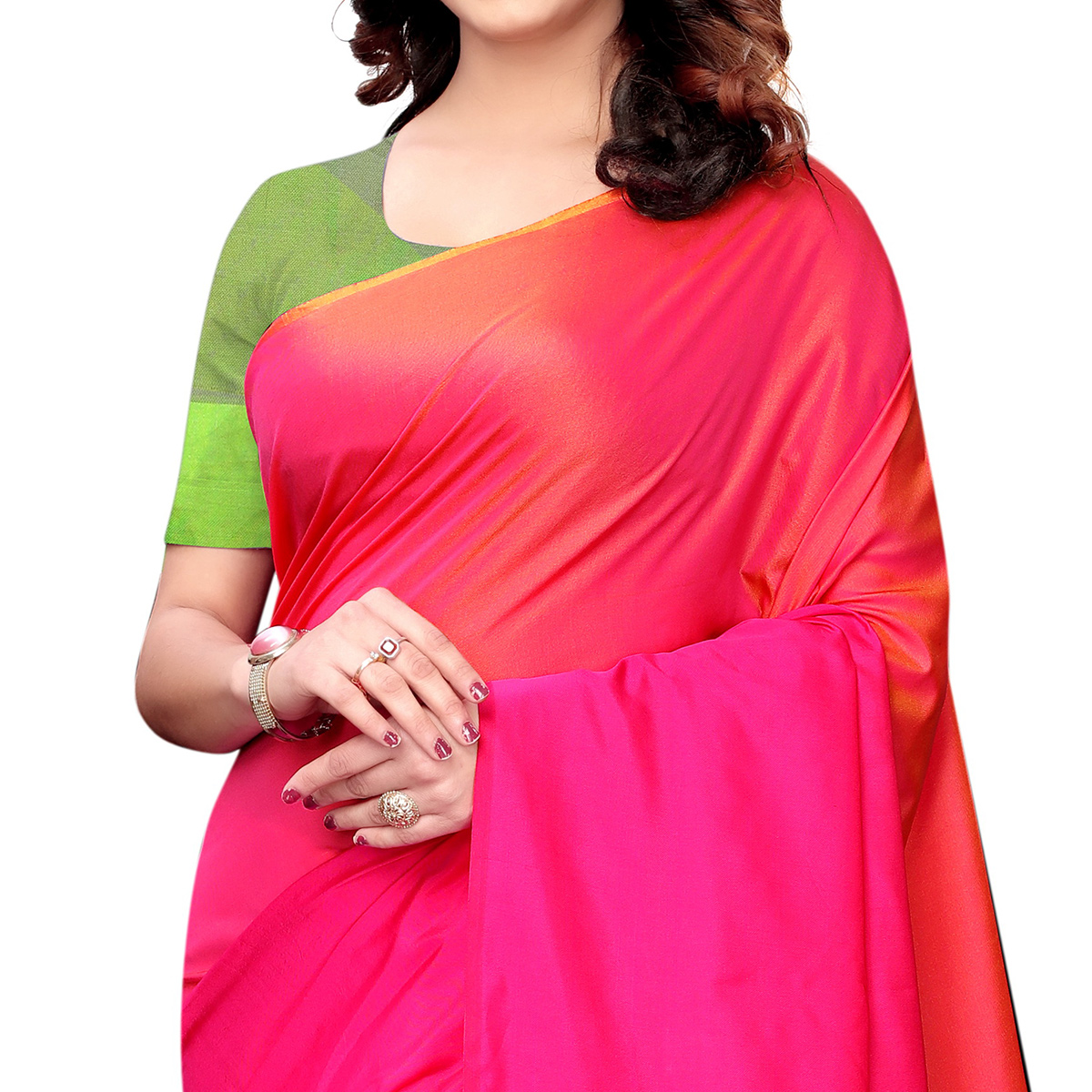 Alluring Pink Colored Festive Wear Tussar Silk Saree With Tassels