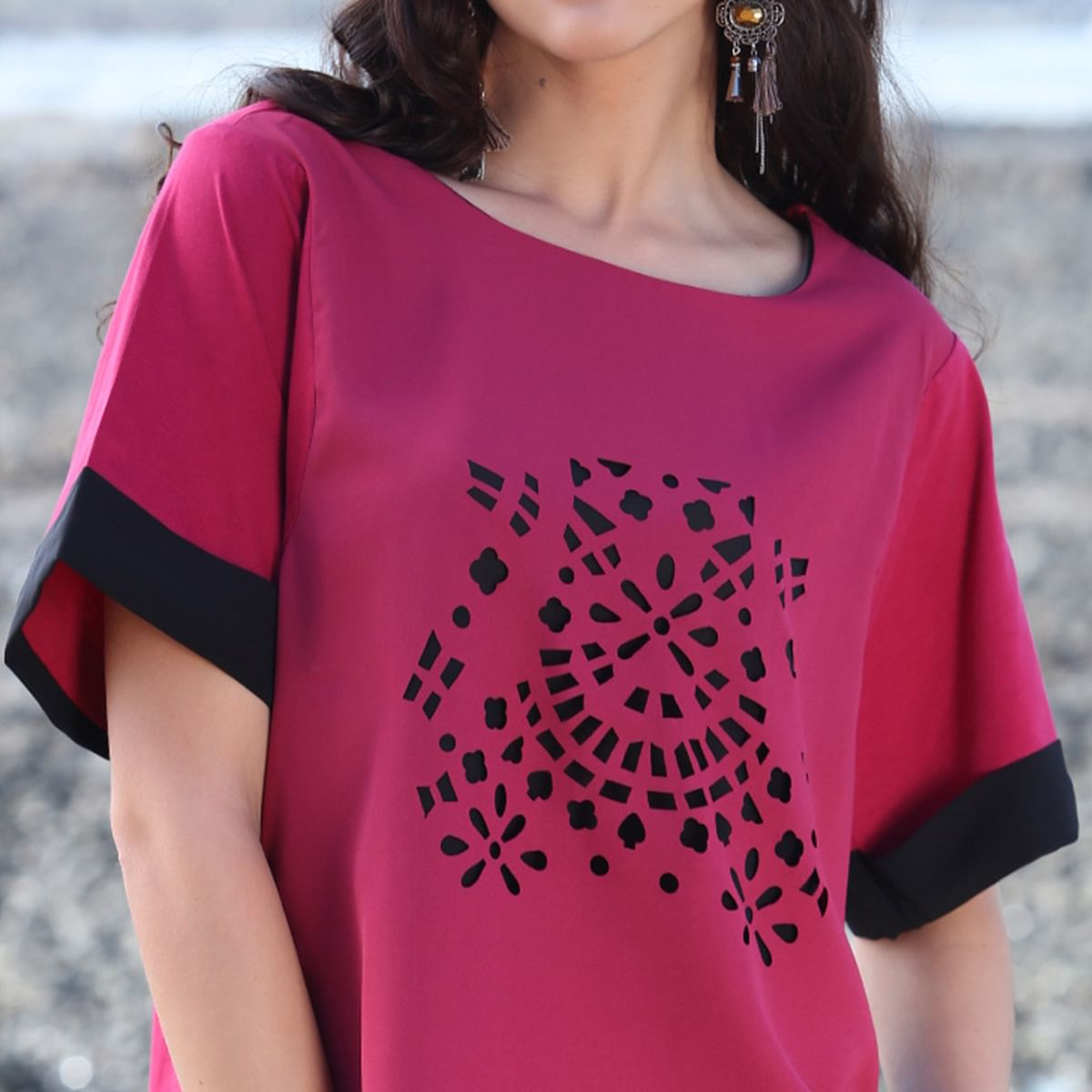 Trendy Pink Casual Top