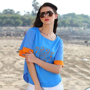 Trendy Blue Casual Top