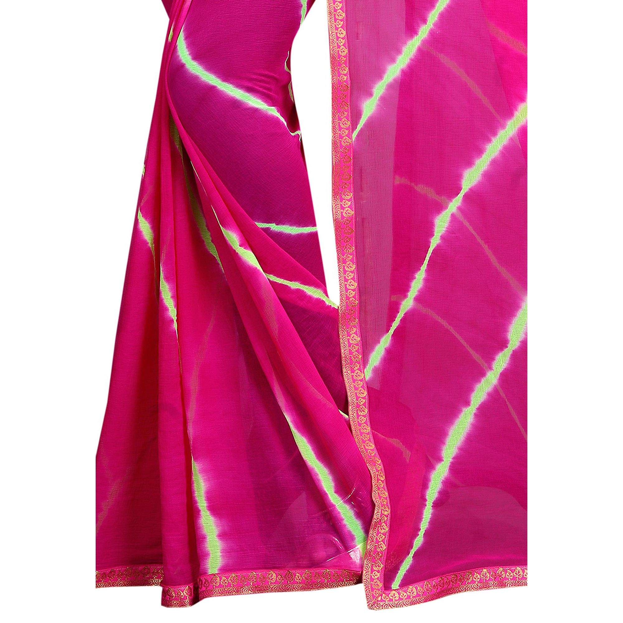 Marvellous Pink Colored Casual Printed Chiffon Saree