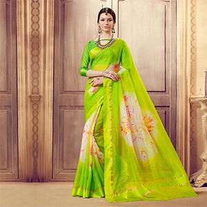 Green Designer Festive Wear Woven Kota Silk Saree
