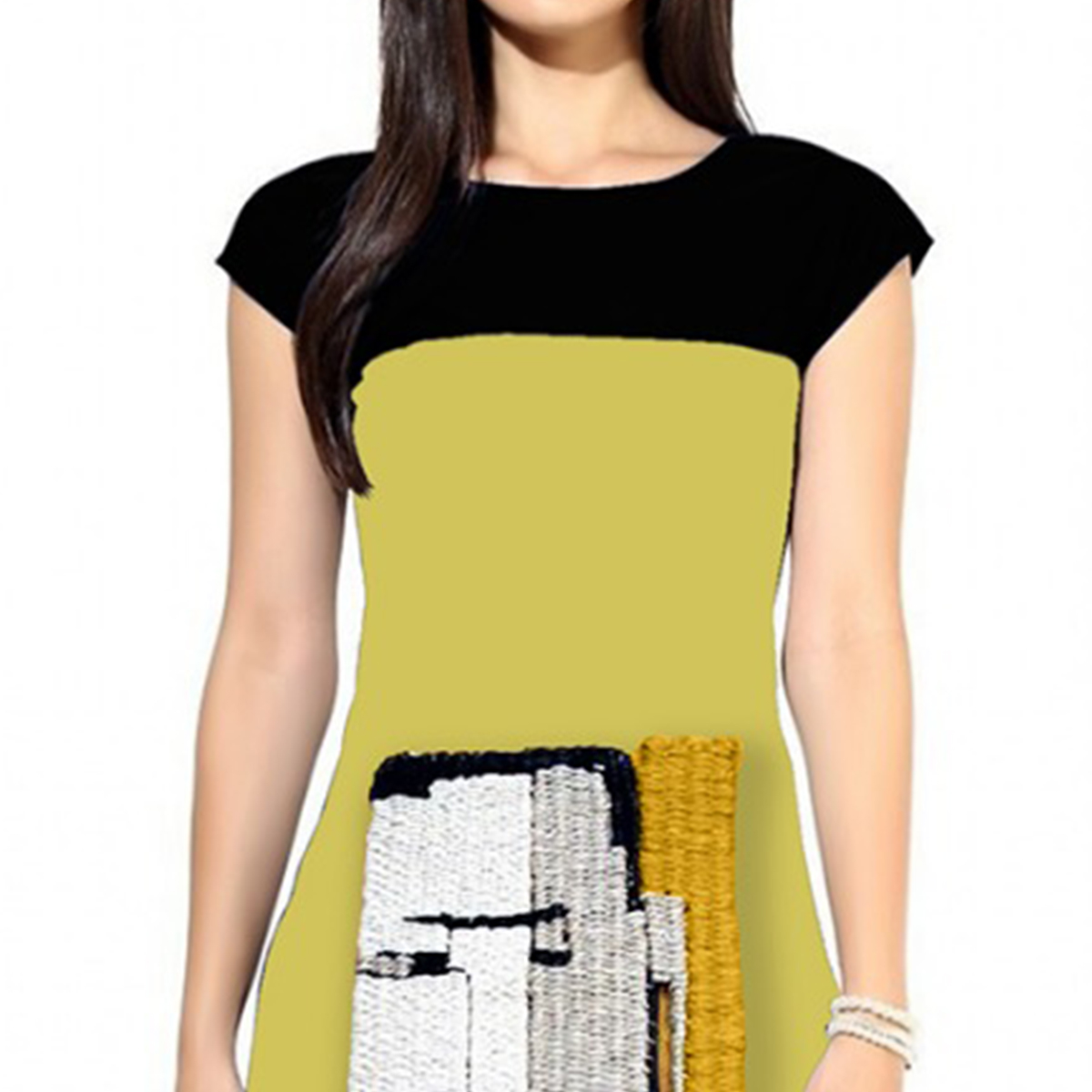 Eye-catching Yellow Colored Casual Digital Printed Crepe Kurti