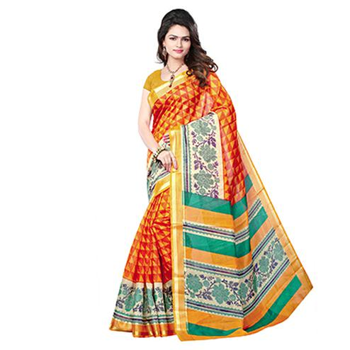 Multicolored Cotton Woven Saree
