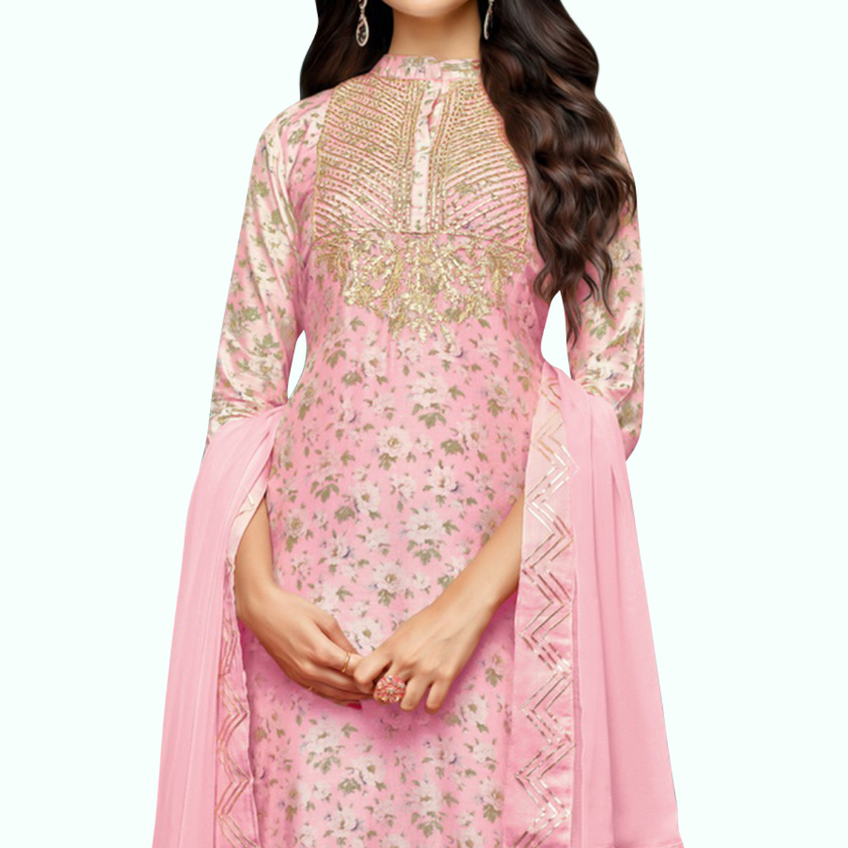 Jazzy Light Pink Colored Party Wear Cotton Silk Salwar Suit