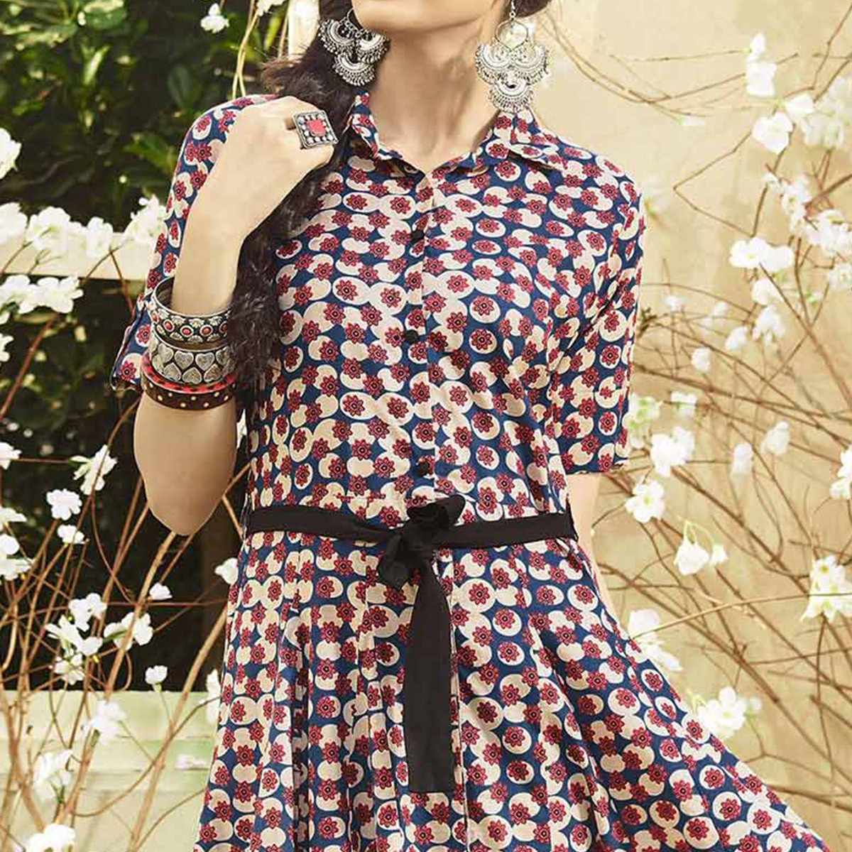 Beautiful Multi Colored Printed Designer Cotton Kurti