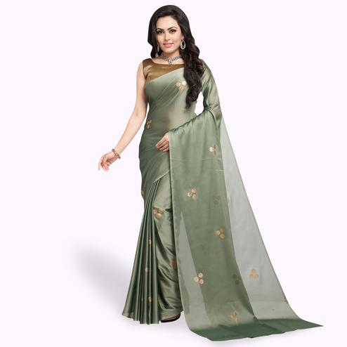 Adorable Gray Colored Party Wear Art Silk Saree