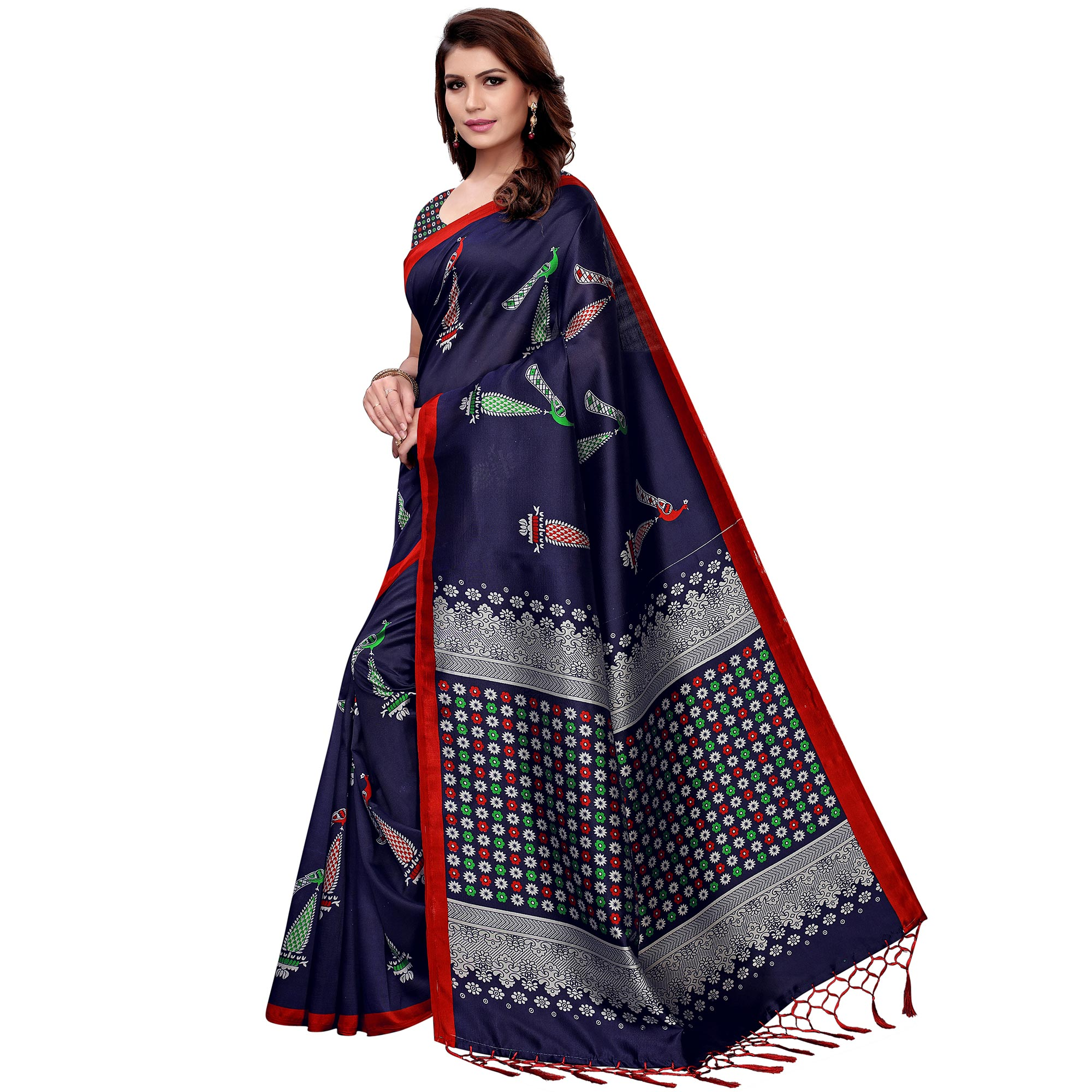 Opulent Navy Blue Colored Festive Wear Art Silk Saree