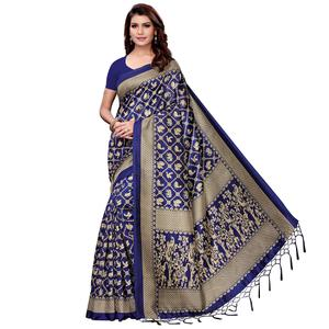 Majesty Navy Blue Colored Festive Wear Art Silk Saree