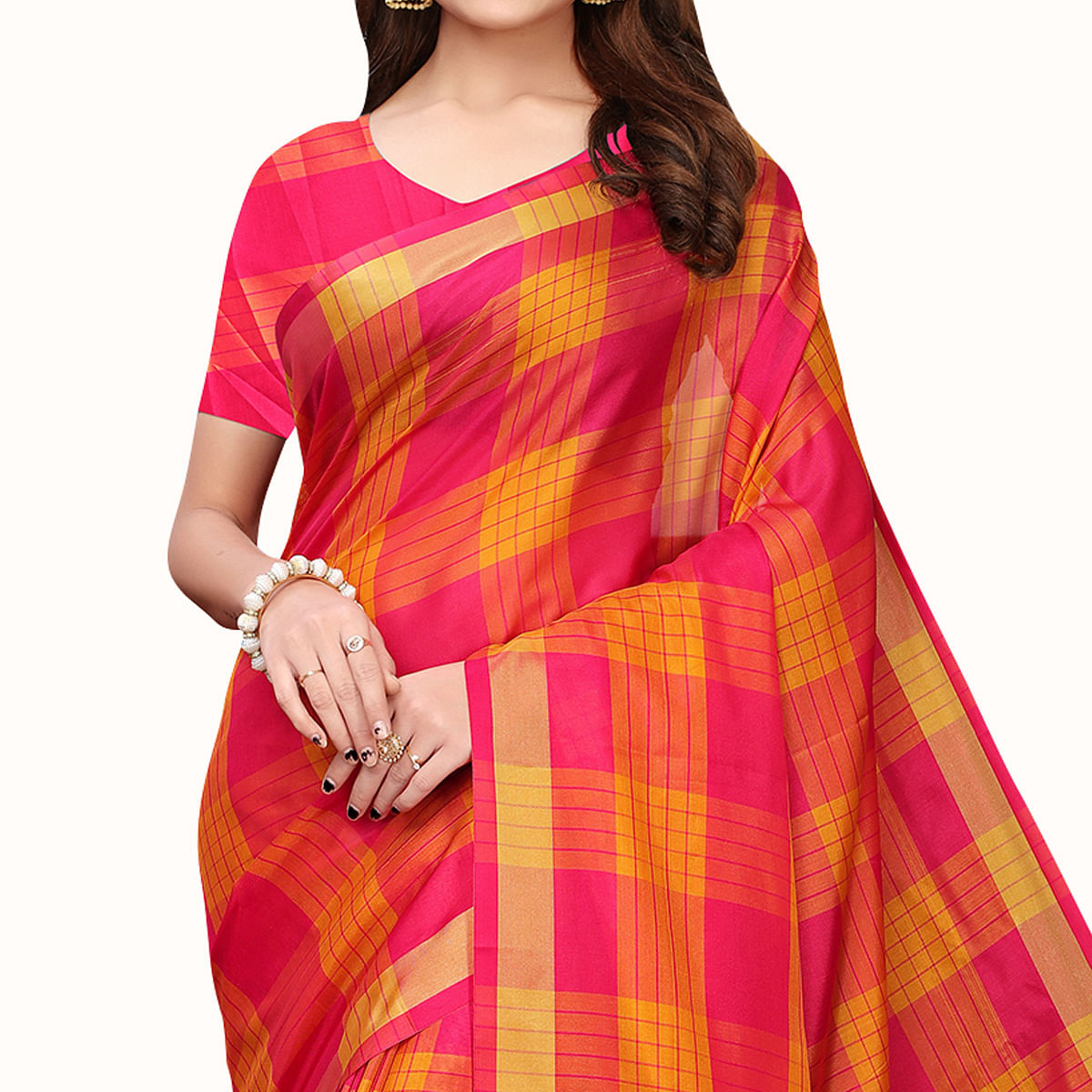 Adorning Pink Colored Festive Wear Art Silk Saree