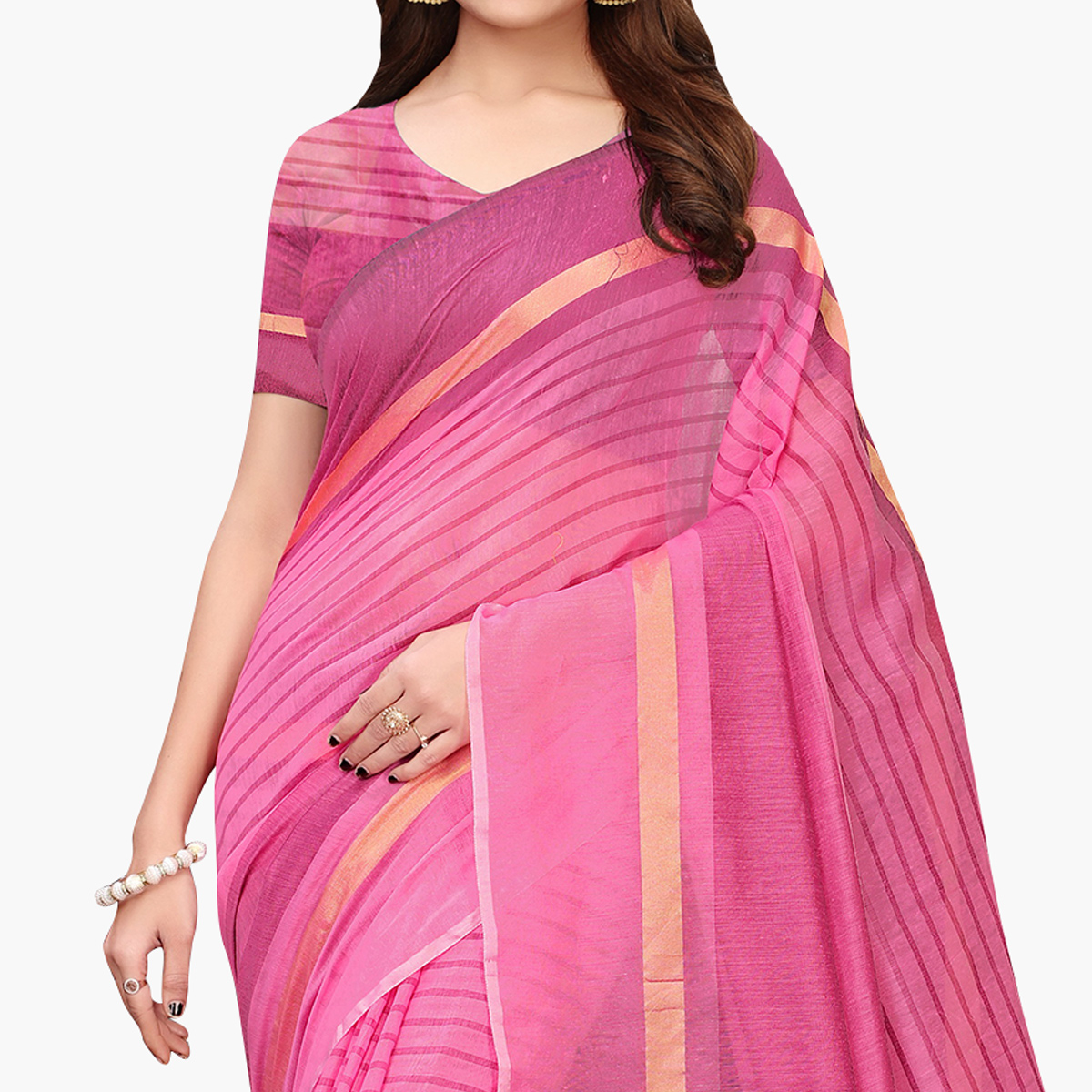 Exceptional Pink Colored Casual Wear Art Silk Saree