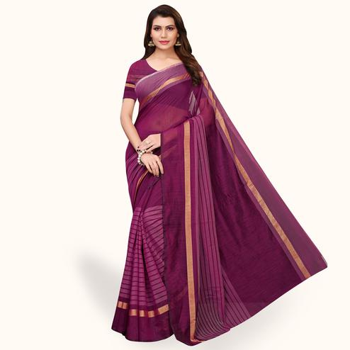 Refreshing Wine Colored Casual Wear Art Silk Saree