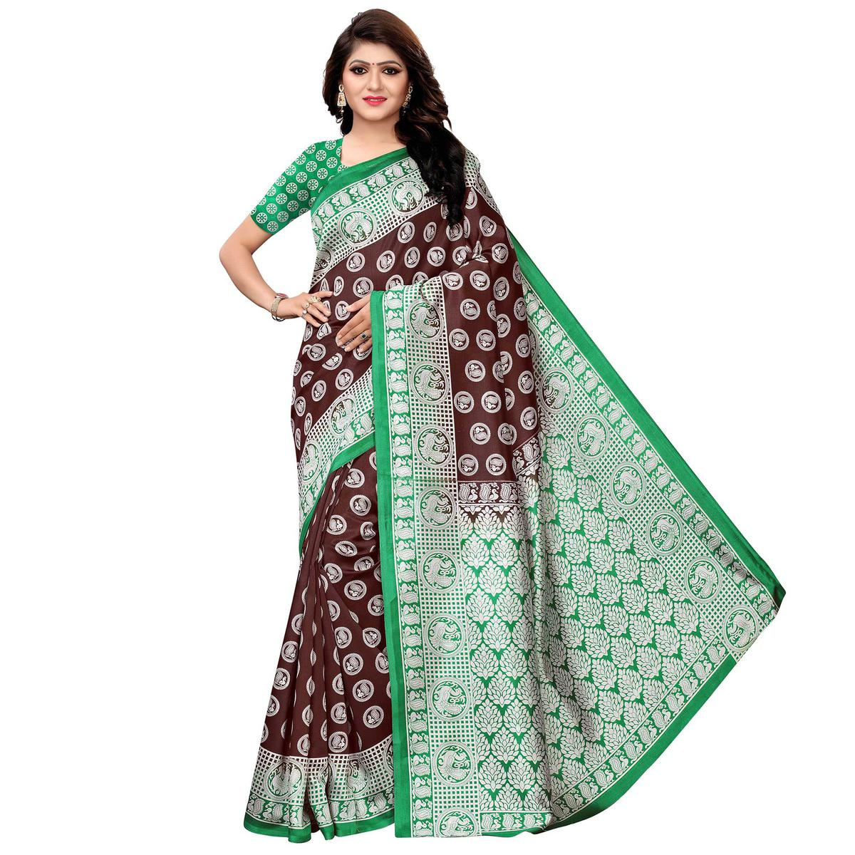d252d94c43 Buy Alluring Coffee Brown Colored Festive Wear Woven Art Silk Saree Online  India, Best Prices, Reviews - Peachmode