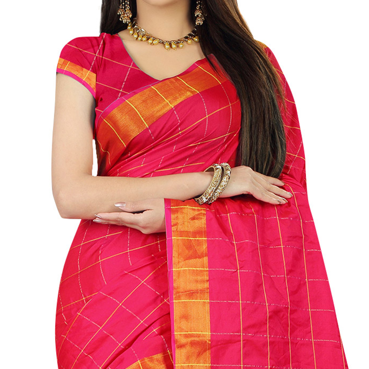 Eye-catching Pink Colored Festive Wear Woven Silk Saree