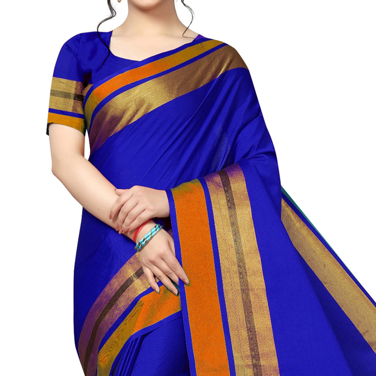 Mesmerising Royal Blue Festive Wear Woven Art Silk Saree