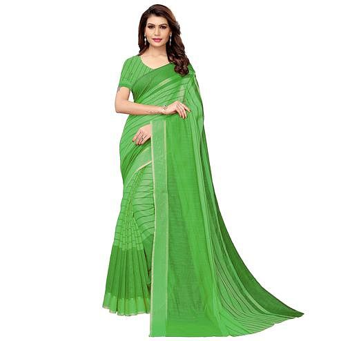 Groovy Green Festive Wear Woven Art Silk Saree