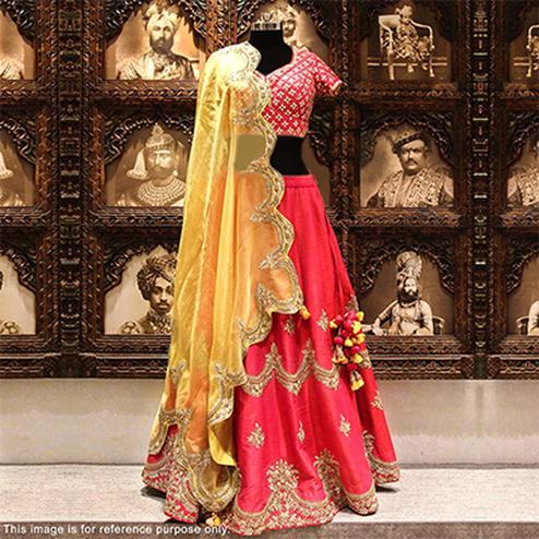Gorgeous Rani Pink Designer Embroidered Lehenga Choli