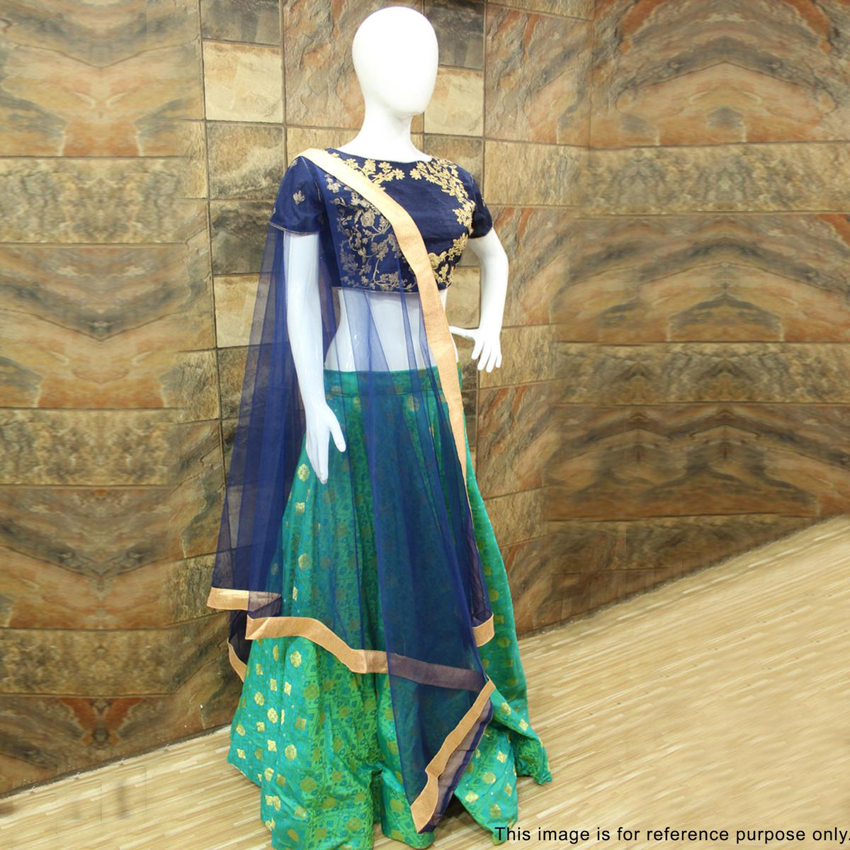 Elegant Green Designer Embroidered Lehenga Choli