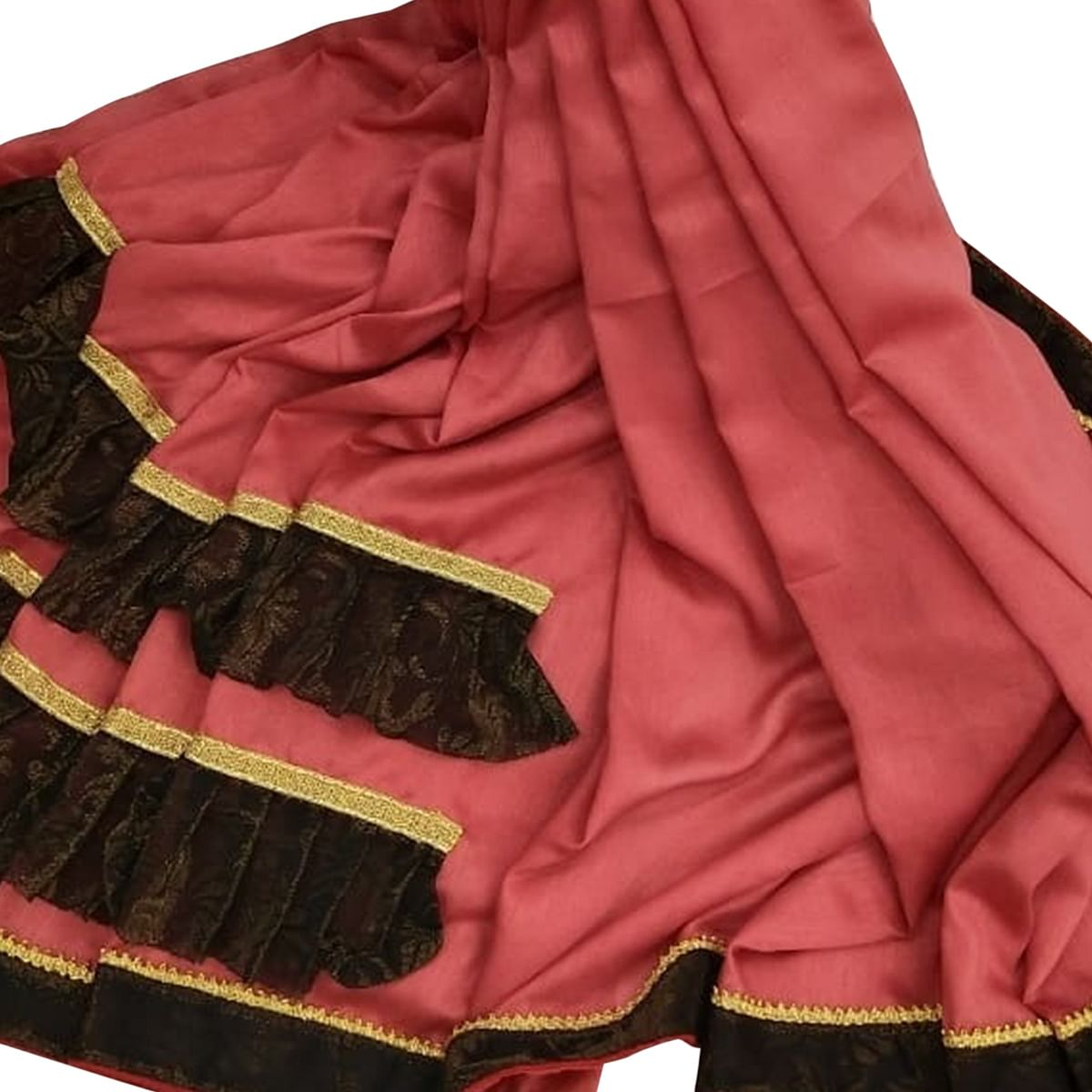 Pleasant Pastel Red Colored Party Wear Art Silk Saree