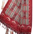 Pleasance Red Colored Festive Wear Printed Khadi Silk Dupatta