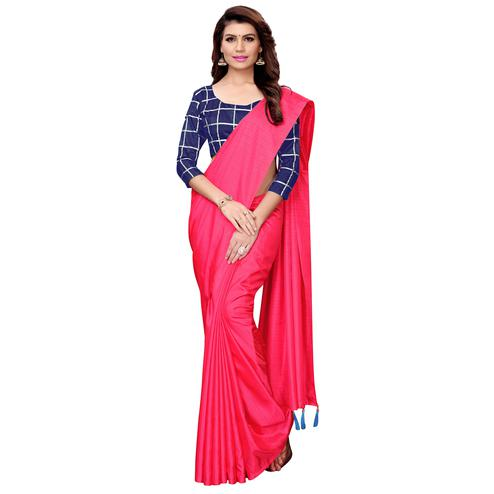 Surpassing Pink Colored Casual Wear Art Silk Saree